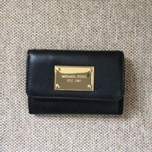NWT mini genuine leather wallet Michael Morse